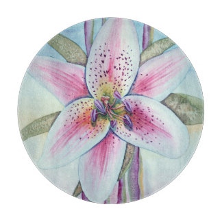 Watercolor Easter Lily Cutting Board