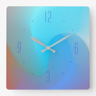 Watercolor Effect Blue/Aqua/Terra > Plain Clocks