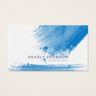 Watercolor Elegant Simple Splatter Blue