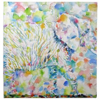 watercolor ELEPHANT .3 Napkin