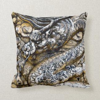 Watercolor Emperor Dragon Stone Art Throw Pillow