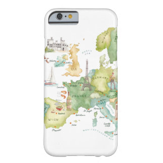 Watercolor Europe Map - iPhone 6 case Barely There iPhone 6 Case