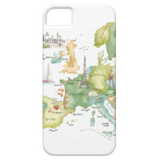 Watercolor Europe Map - Iphone Case