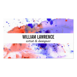 Watercolor | Expressive Pack Of Standard Business Cards