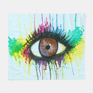 Watercolor Eye Fleece Blanket