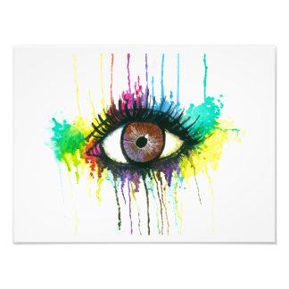 Watercolor Eye Photograph