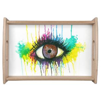 Watercolor Eye Serving Tray