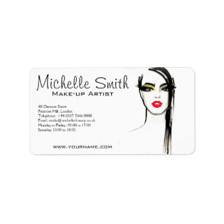 Watercolor face makeup artist branding label
