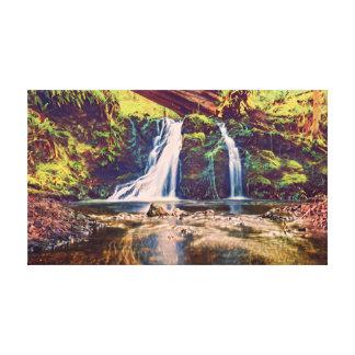 Watercolor Falls Canvas Print