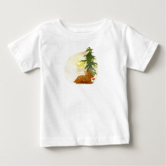 Watercolor Fawn Baby T-Shirt