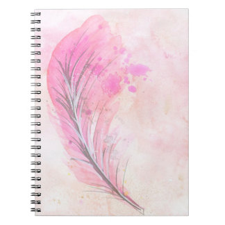 Watercolor Feather Notebook