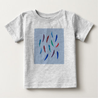 Watercolor Feathers Baby T-Shirt