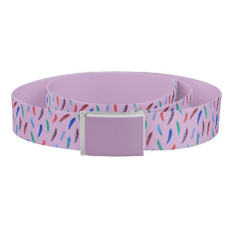 Watercolor Feathers Belt