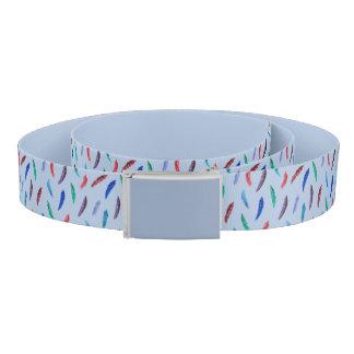 Watercolor Feathers Belt