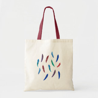 Watercolor Feathers Budget Tote