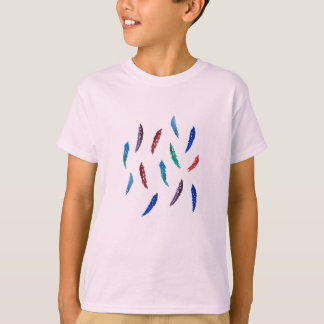 Watercolor Feathers Kids' Cotton T-Shirt