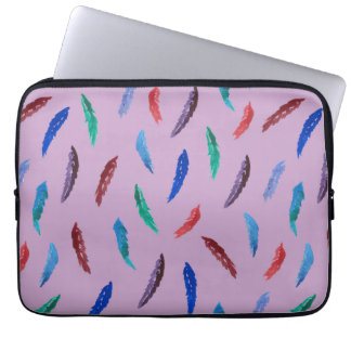 Watercolor Feathers Laptop Sleeve 13''