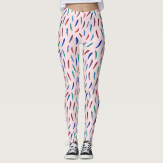 Watercolor Feathers Leggings