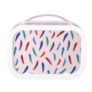 Watercolor Feathers Lunch Box