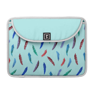 Watercolor Feathers Macbook Pro Sleeve 13''