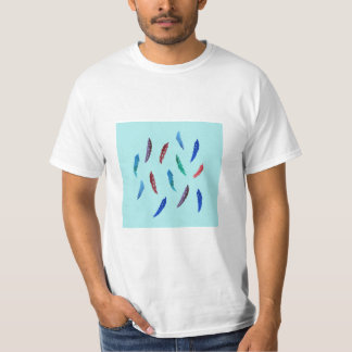 Watercolor Feathers Men's Value T-Shirt