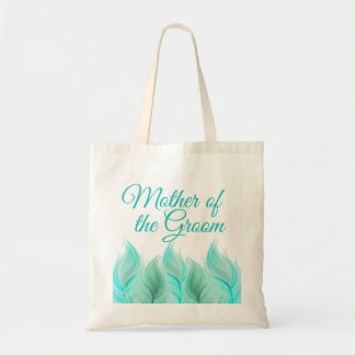 Watercolor Feathers Mother of the Groom Budget Tote Bag