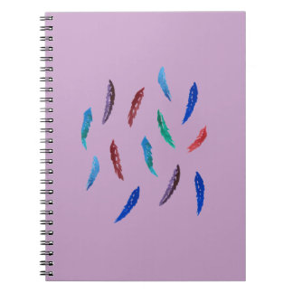 Watercolor Feathers Spiral Notebook