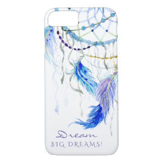 Watercolor Feathers Sun Catcher Dream Big Dreams iPhone 8/7 Case