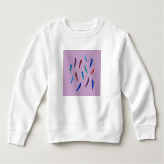 Watercolor Feathers Toddler Sweatshirt