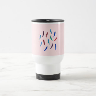 Watercolor Feathers Travel Mug