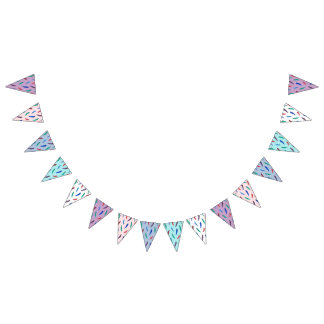 Watercolor Feathers Triangle Bunting Flags