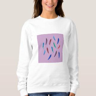 Watercolor Feathers Women's Basic Sweatshirt