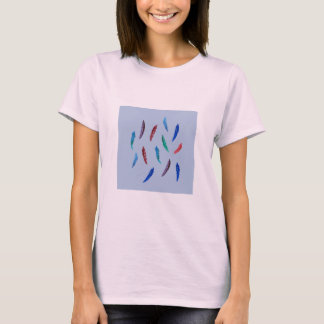 Watercolor Feathers Women's Basic T-Shirt