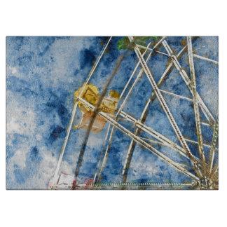 Watercolor Ferris Wheel in Santa Cruz California Cutting Board