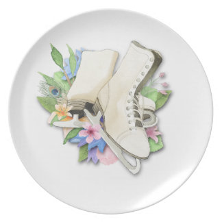 Watercolor Figure Skates Custom Giftware Party Plates