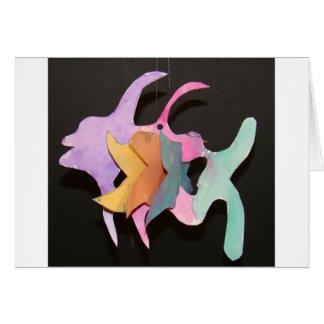 Watercolor Fish Mobile Greeting Card