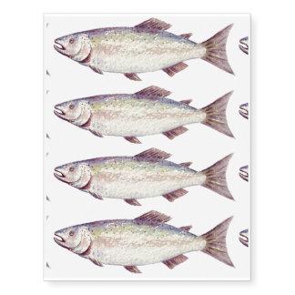 Watercolor fish temporary tattoos