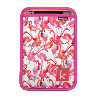 Watercolor Flamingo In Watercolors | Add Your Name iPad Mini Sleeve