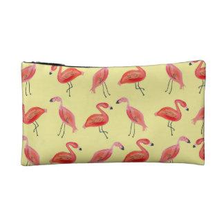 Watercolor Flamingo Pattern Makeup Bag