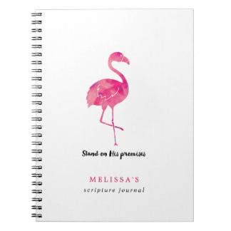 Watercolor Flamingo Personalized Scripture Journal