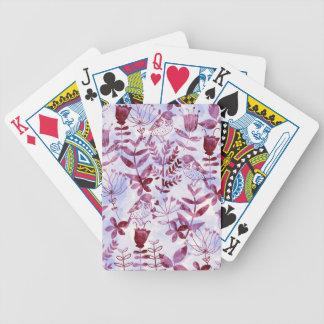 watercolor floral & birds II Poker Deck