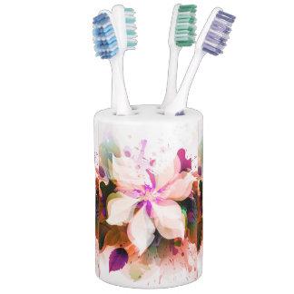 watercolor floral bloom bathroom set