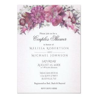 Watercolor Floral Blush Couples Shower Card