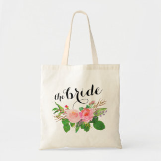 watercolor floral Bouquet |the bride Tote Bag