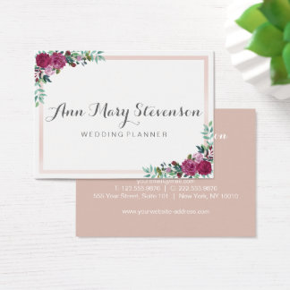Watercolor Floral Business card | pink elegant