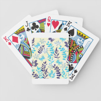 Watercolor Floral & Butterfly Poker Deck