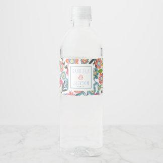 Watercolor Floral   Custom Water Label