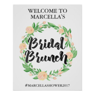 Watercolor Floral Customizable Welcome Sign