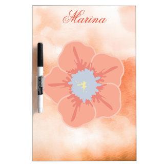 Watercolor Floral Dry Erase Board