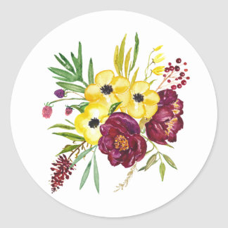 Watercolor Floral Envelope Stickers